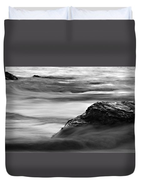 Black And White Seascape Duvet Cover