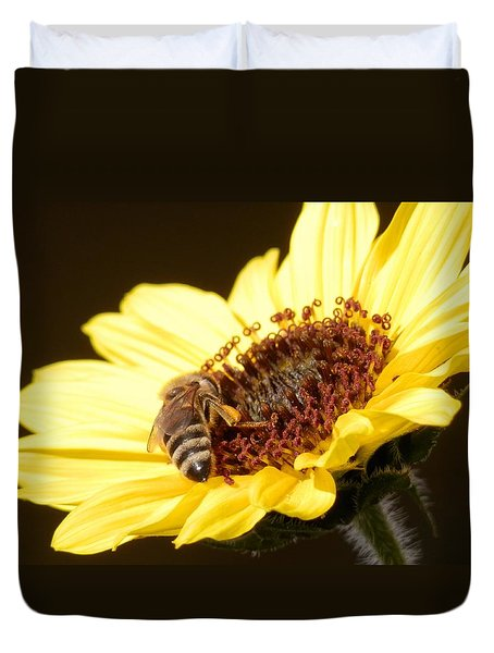 Black And Yellow Bee Beauty Duvet Cover by Belinda Lee