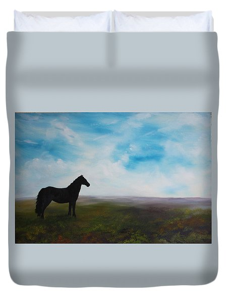 Black As Night In The Light Of Day Duvet Cover