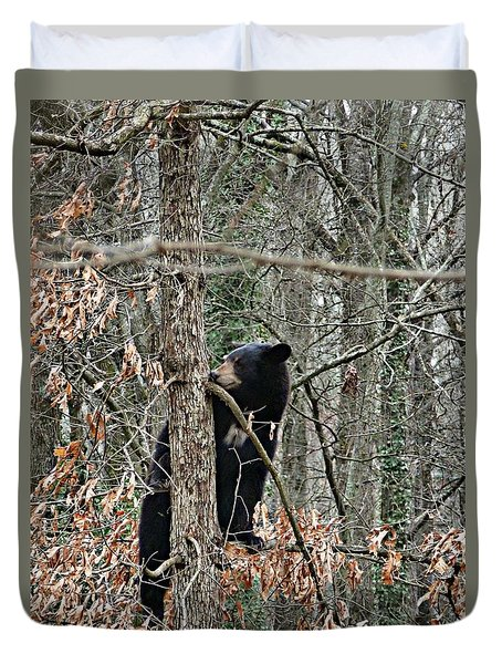 Black Bear Cub Duvet Cover