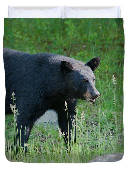 Black Bear Female Duvet Cover