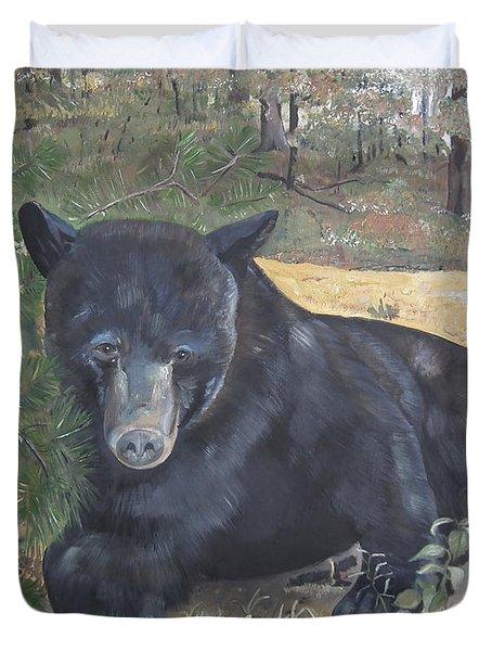 Black Bear - Wildlife Art -scruffy Duvet Cover