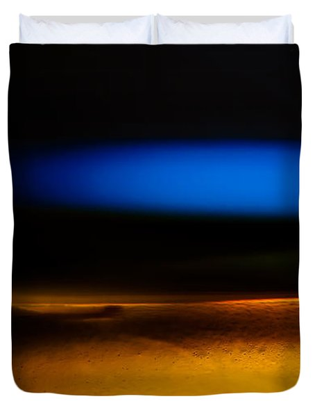 Black Blue Yellow Duvet Cover by Bob Orsillo