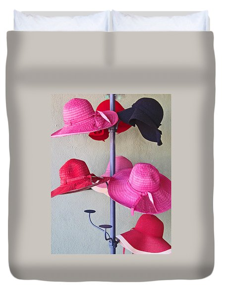 Black Chapeau Of The Family Duvet Cover