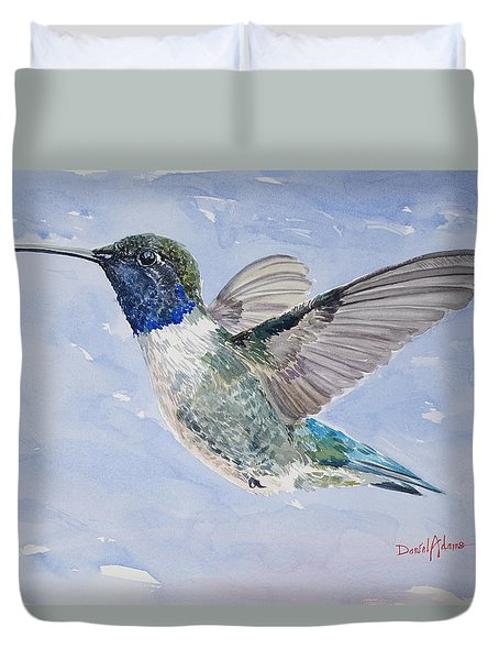 Da194 Black Chinned Hummingbird By Daniel Adams Duvet Cover
