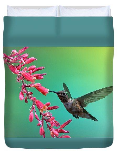Black Chinned Hummingbird Duvet Cover