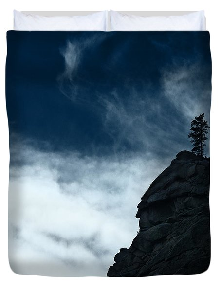 Duvet Cover featuring the photograph Black Cliff by Dana DiPasquale