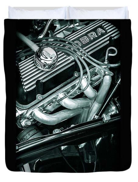 Black Cobra - Ford Cobra Engines Duvet Cover