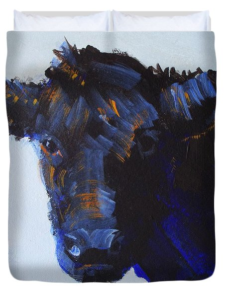 Black Cow Head Duvet Cover