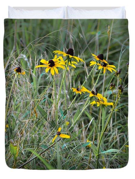 Black Eyed Susans At Antietam Maryland Duvet Cover
