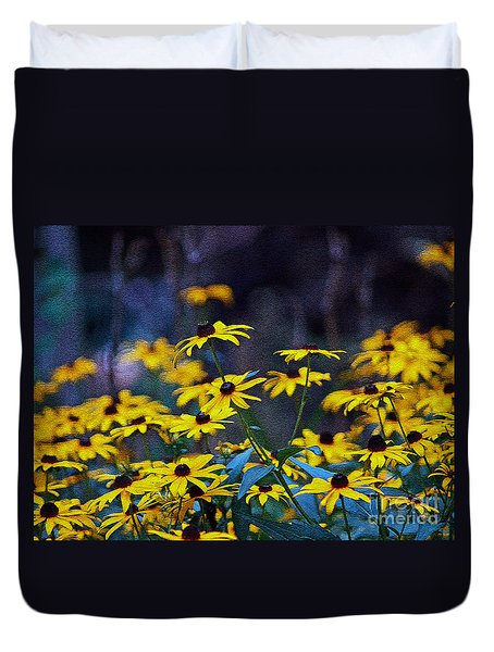 Black-eyed Susans Duvet Cover by Patricia Griffin Brett