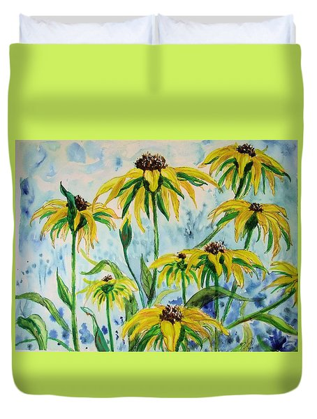 Black Eyed Suzans Dream Duvet Cover