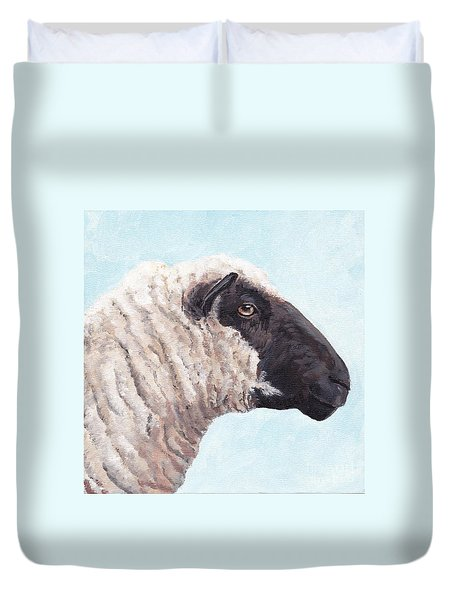 Black Face Sheep Duvet Cover