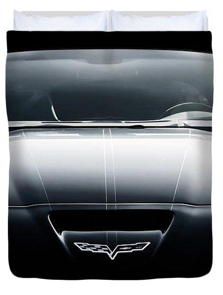 Black Grand Sport Corvette Duvet Cover