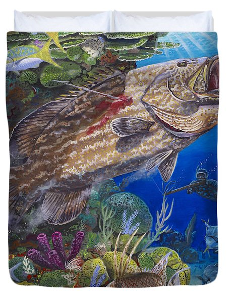 Black Grouper Hole Duvet Cover
