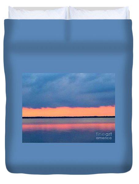 Black Hammock Sunset 2 Duvet Cover