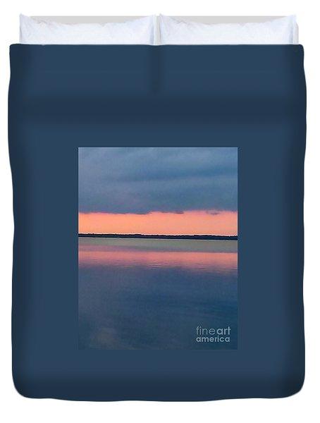 Black Hammock Sunset Duvet Cover