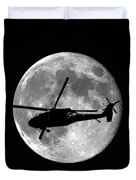 Black Hawk Moon Duvet Cover by Al Powell Photography USA