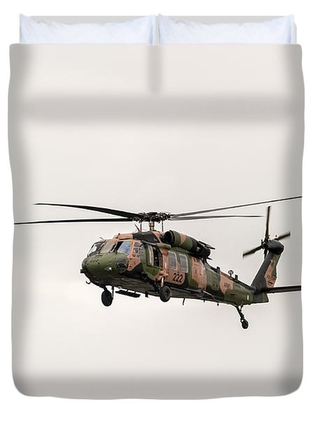 Black Hawk  Duvet Cover