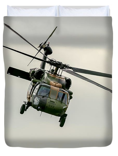 Black Hawk Swoops Duvet Cover