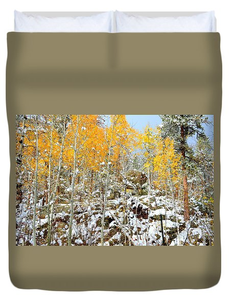 Black Hills Boulders Duvet Cover by Clarice  Lakota