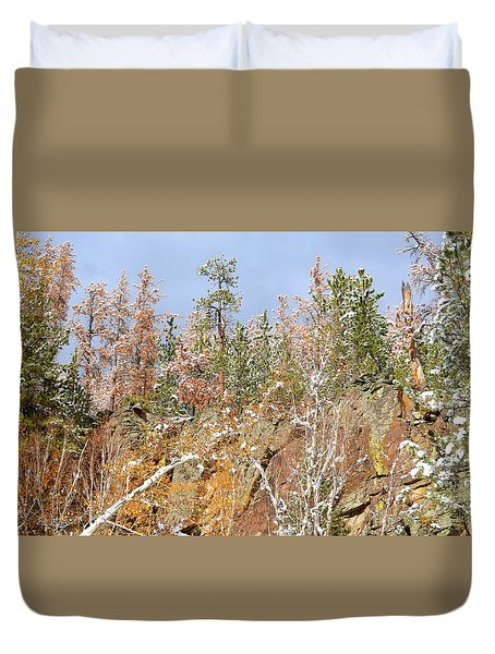 Black Hills Color Palette Duvet Cover by Clarice  Lakota