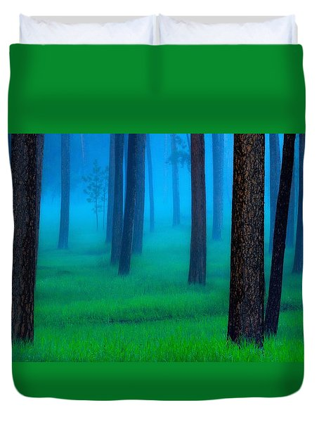 Black Hills Forest Duvet Cover by Kadek Susanto
