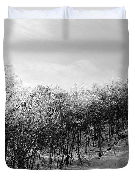 Black Ice Duvet Cover