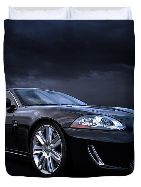Black Jaguar Duvet Cover