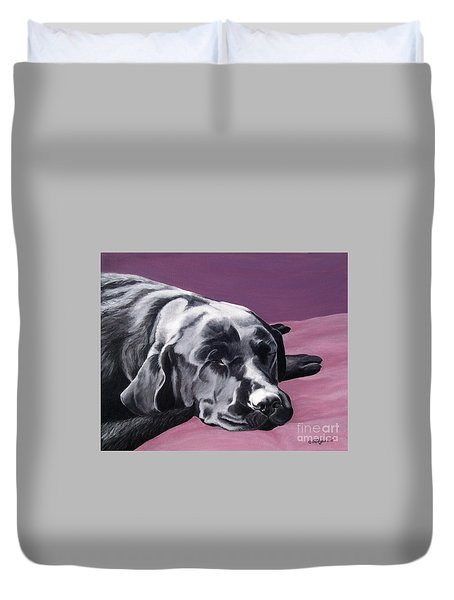 Black Labrador Beauty Sleep Duvet Cover