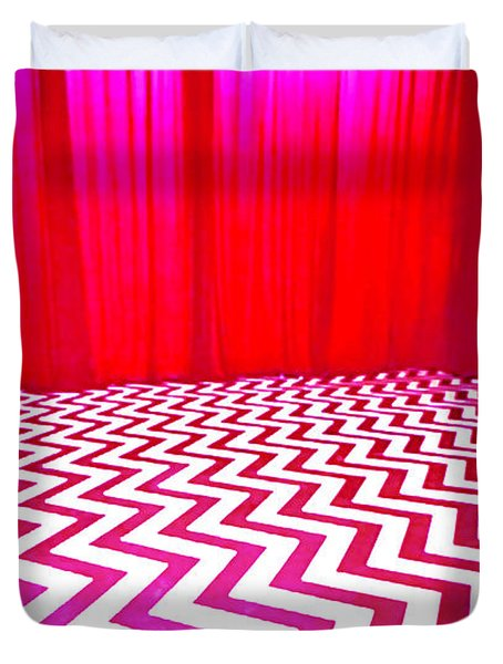 Black Lodge Magenta Duvet Cover