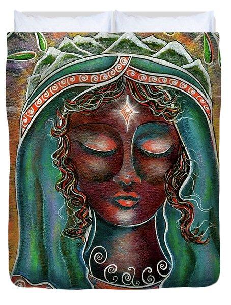 Peace - Black Madonna Duvet Cover