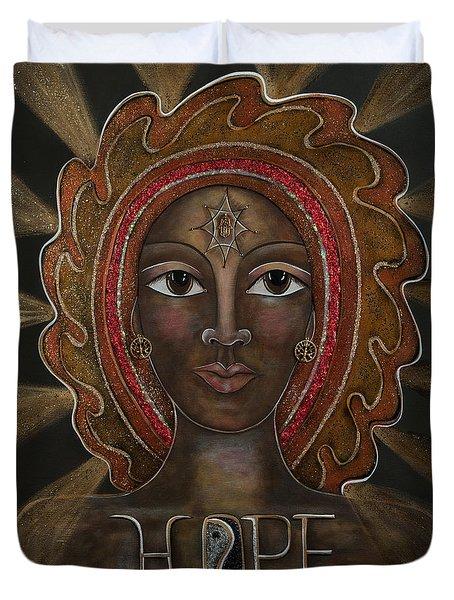 Black Madonna - Hope Duvet Cover by Deborha Kerr