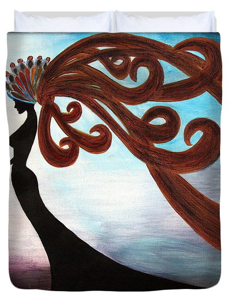 Black Magic Woman Duvet Cover