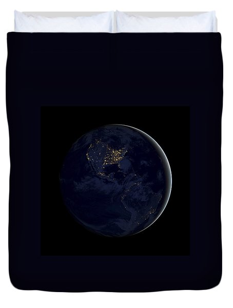 Black Marble Duvet Cover by Adam Romanowicz