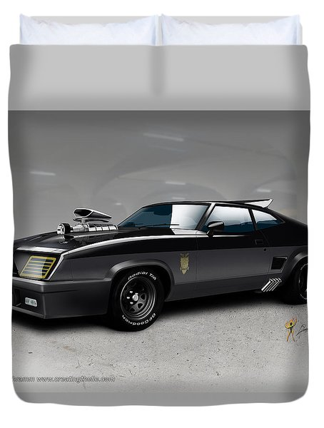 Black On Black Duvet Cover