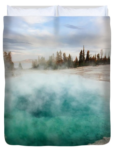 Black Pool At Dusk Duvet Cover