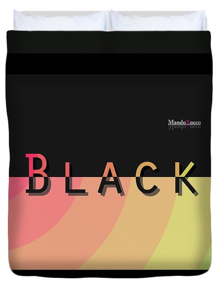 Black Rainbow Malve Duvet Cover
