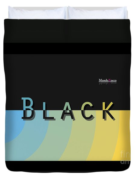 Black Rainbow Yellow Duvet Cover