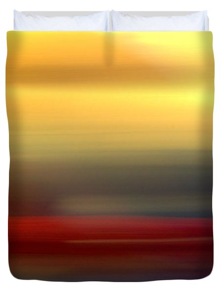 Black Red Yellow Duvet Cover by Terence Morrissey