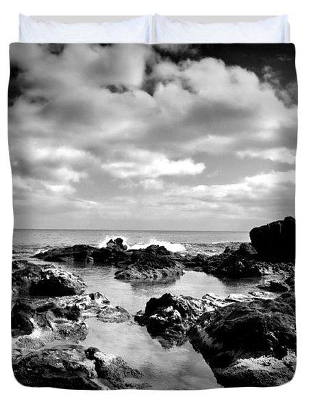 Black Rocks 1 Duvet Cover