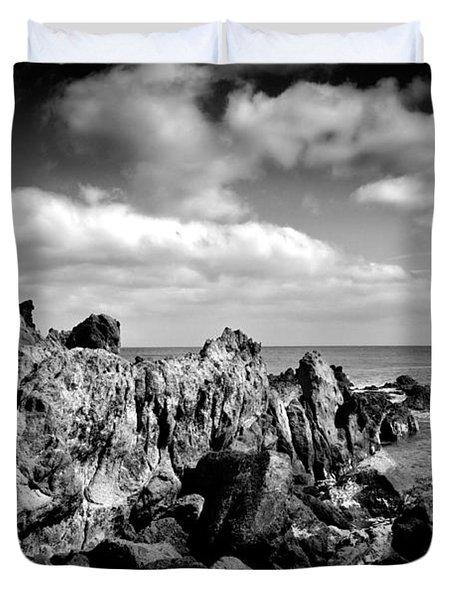 Black Rocks 3 Duvet Cover