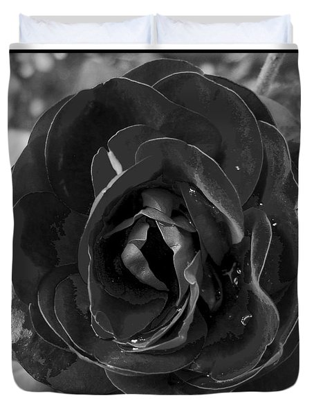 Black Rose Duvet Cover by Nina Ficur Feenan