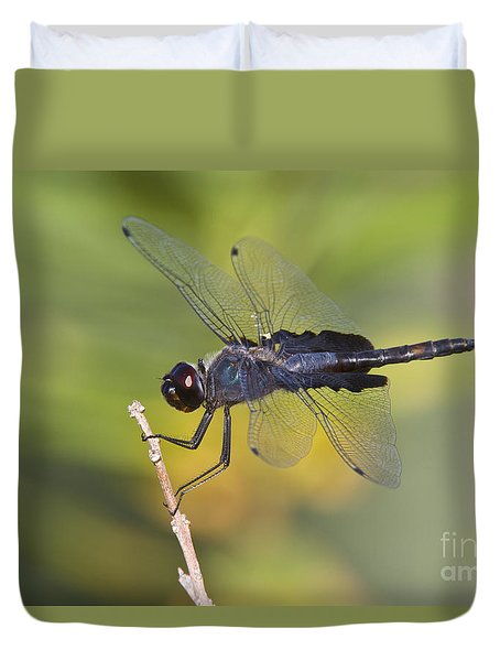 Duvet Cover featuring the photograph Black Saddlebags by Bryan Keil
