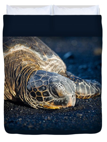 Black Sand Nap Duvet Cover