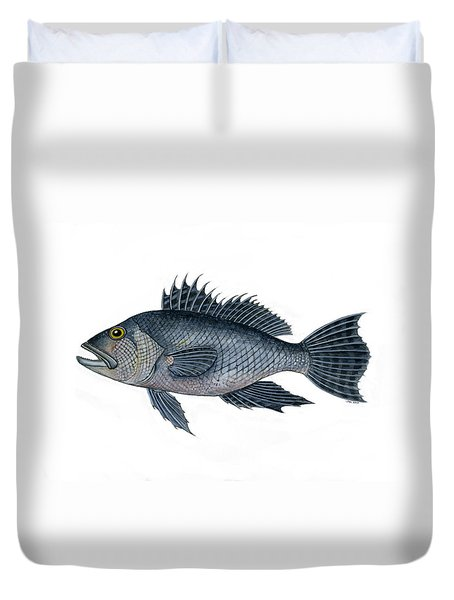 Black Sea Bass 3 Duvet Cover