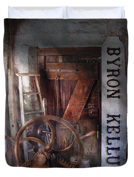 Black Smith - Byron Kellum Blacksmith Duvet Cover by Mike Savad