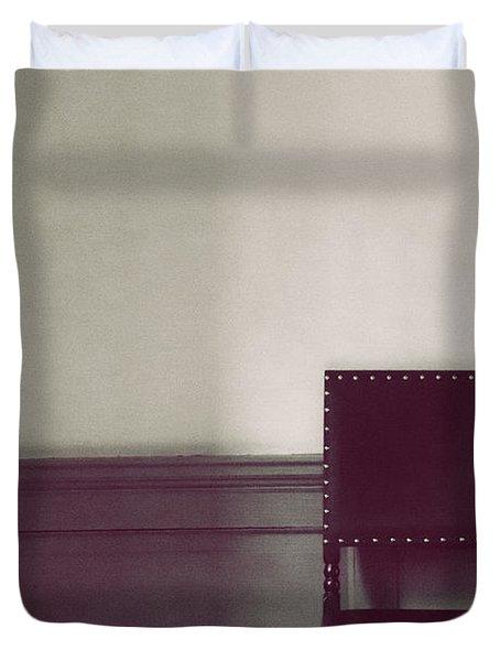 Black Stud Duvet Cover by Margie Hurwich