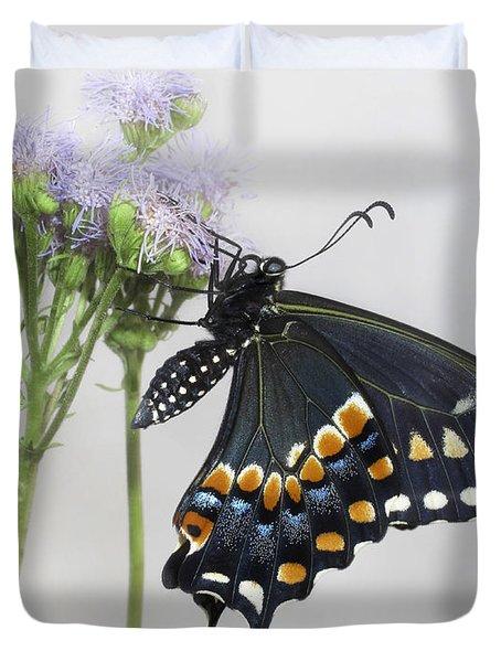 Black Swallowtail II Duvet Cover by David and Carol Kelly