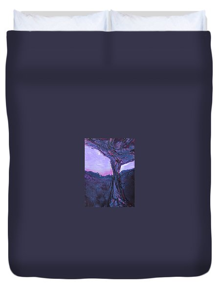 Black Tree Duvet Cover